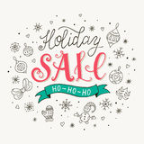 Holiday sale poster Royalty Free Stock Photography