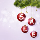 Holiday Sale Red Balls Royalty Free Stock Photo