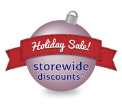 Holiday sale sign on Christmas ball Royalty Free Stock Photos