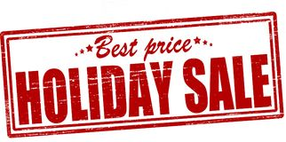 Holiday sale. Stamp with text holiday sale inside,  ilustration Royalty Free Stock Images
