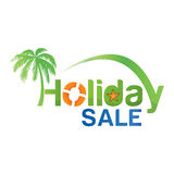 Holiday sale text With beach atmosphere Stock Photography