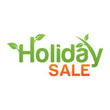 Holiday sale text with trees Stock Photography