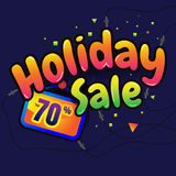 Holiday Sale vector horizontal banner - 70% special offer.   Royalty Free Stock Image