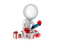 Holiday sales concept. On white background.3d rendered Royalty Free Stock Photos