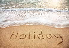 Holiday on the sand Royalty Free Stock Photography