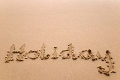 Holiday in sand horizontal Stock Photo