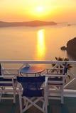 Holiday in Santorini Stock Image
