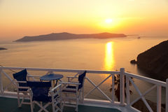 Holiday in Santorini Royalty Free Stock Photography