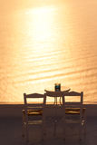 Holiday in Santorini Stock Photography