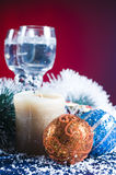 Holiday scene with decorations Stock Photography