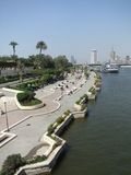 Holiday scenery of Gezira waterside Royalty Free Stock Photography