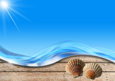 Holiday Sea Background Royalty Free Stock Photography