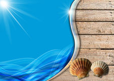 Holiday Sea Background Royalty Free Stock Image