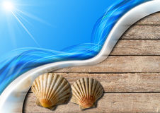 Holiday Sea Background Royalty Free Stock Images