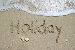 Holiday sea beach Stock Photography