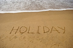 Holiday on sea beach Royalty Free Stock Photography