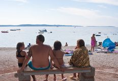Holiday at the sea. Croatia Royalty Free Stock Images