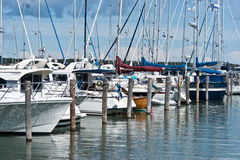Holiday by the sea. This Picture was taken at the Mariehamn Marina Royalty Free Stock Photography