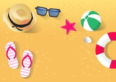 Holiday in the sea in summer stock illustration