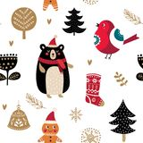 Holiday seamles pattern Royalty Free Stock Images