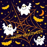 Holiday seamless background on theme of Halloween Stock Images