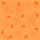 Holiday seamless background on theme of Halloween. Holiday seamless background in orange tones on theme of Halloween Royalty Free Stock Images