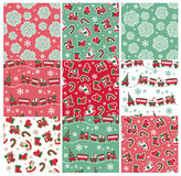 Holiday seamless backgrounds Stock Photos