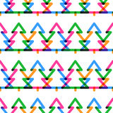 Holiday seamless colorful pattern. New Year and Christmas fir-tr Royalty Free Stock Images