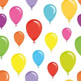 Holiday seamless pattern background with colorful balloons. Stock Photo
