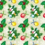 Holiday seamless pattern Stock Photos