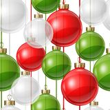 Holiday seamless pattern design with christmas Stock Image