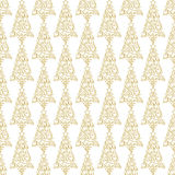 Holiday seamless pattern with golden hand lettering We wish You a Merry Christmas in the form of a Christmas tree on. White background. Vector illustration for Royalty Free Stock Image
