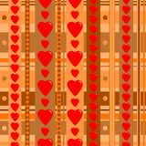 Holiday seamless pattern with hearts Royalty Free Stock Photo