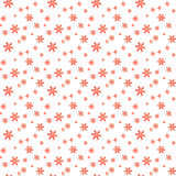 Holiday seamless pattern. Merry Christmas and Happy New Year background with snowflakes. Royalty Free Stock Photos