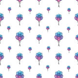 Holiday seamless pattern with multicolor air balloons. Design concept for gift cards, birthday greeting cards, festival. Pattern seamless vector illustration Stock Image