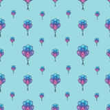 Holiday seamless pattern with multicolor air balloons. Design concept for gift cards, birthday greeting cards, festival. Pattern seamless vector illustration Stock Photos