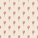 Holiday seamless pattern with multicolor air balloons. Design concept for gift cards, birthday greeting cards, festival Royalty Free Stock Photography