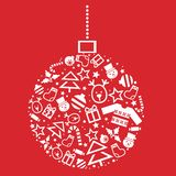 Holiday Seamless Pattern in red background Royalty Free Stock Image