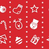 Holiday Seamless Pattern in red background Royalty Free Stock Images