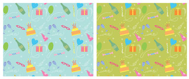 Holiday seamless pattern.vector color background Royalty Free Stock Image