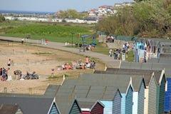 Holiday seaside huts Stock Image