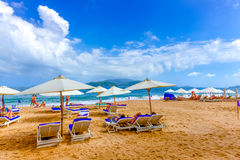 Holiday season in Beach. Royalty Free Stock Images