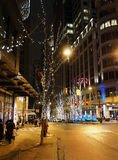 Holiday Season at Downtown Seattle Stock Images
