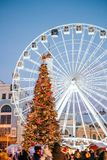 Holiday season in Kyiv royalty free stock images