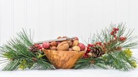 Holiday Season Mixed Nuts Stock Photos