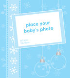 Holiday season template frame design for baby Stock Images