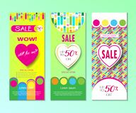 Spring Holiday Sale modern banners set Royalty Free Stock Images