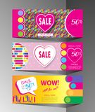 Holiday Sale modern banners set Stock Photos