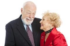 Holiday Seniors - Knowing Look Stock Photography