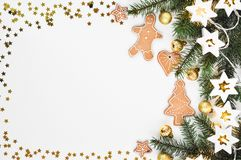 Christmas Cookies And Candy Frame Stock Illustration ...